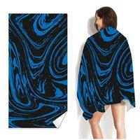 160 * 80 cm Asciugamani da spiaggia di asciugatura rapida Uomini e donne Asciugamano per adulti Asciugamano per adulti Portatile Beach Travel Sport Asciugamano DHA4463