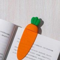 Lesezeichen kreative 3d Stereo-Karottenform für Spaßlesebuch Ordner Pager Cute Note Brief Student Briefpapier