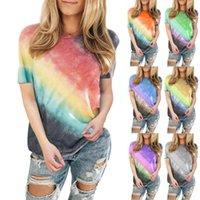 Women's T-Shirt Tie Dye Gradient Summer For Women Plus Size Loose Tops O-Neck Short Sleeve Casual Harajuku T Shirt