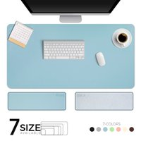 Double-side Portable Large Mouse Pad Gamer Waterproof PU Leather Suede Desk Mat Computer Mousepad Keyboard Table Cover for Dota