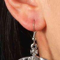 الماس زحل مدار الأذن عشيق شخصية كوكب الإبداعية شنقا أقراط مجوهرات النساء اكسسوارات الزفاف