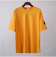 2021 Topstoney 여름 기본 코튼 반팔 새로운 여름 배지 짧은 소매 패션 캐주얼 느슨한 간단한 기본 티셔츠