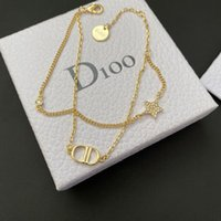 2021 new Dijia D home CD letter style lady Diamond Star Double Korean simple Bracelet S3A3