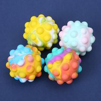 Party Favor 3D Silicon Ball Fidget Decompression Push Toys Antistress Autism Reliever Toy