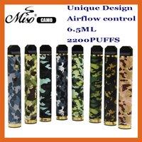 Original Miso Camo monouso VAPE E Sigaretta Mammuflage Style Dispositivo pre-riempito 6.5ml Pod 2200 Pulves XXTRA KITS VAPES PEN PK PUFF BAR PLUS BANG XXL RANDM DAZZLE PRO
