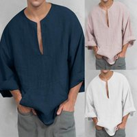 Erkek T-Shirt Rahat Haikyuu Yaz Üst Giyim Katı Renk Boy T-Shirt O-Boyun Gömlek Kısa Kollu Artı Boyutu Gevşek Tops
