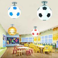 Ceiling Lights Soccer Ball Light Football LED Lamp Indoor Bar Kids Room Bedroom Lighting For Boys Fixture Home Decor
