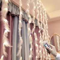 Strings Feather 3m Led Light String Curtain Lamp USB Fairy Lights For Bedroom Living Room DIY Romantic Holiday Decoration LightingWindow