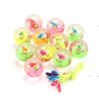 new Flashing Toy Crystal Ball Jumping Party Favor Balsl Children's Bouncy Luminous Source 2021 Pink Toys colorful package EWD7746