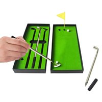 Desktop Golf Pen Toy Set Portable Tabletop Ballpoint Flag Mini Board Games Kids Gifts With 3 Pens 2 Balls 1 Complete Of Clubs