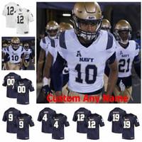 NCAA College Jerseys Midshipmen 4 Dobbs Ricky 43 Nelson Smith 6 Olsen 7 Garret Lewis 9 Zach Abay 93 Joe Cardona Custom Football cousu