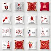 45x45cm Natale albero di natale alci federa giacca geometrica cuscini da cuscini di stampa rossa divano automobile cuscino cuscino cuscino cuscino cuscino cuscino