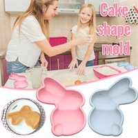 Beautiful rabbit mold of silicone muffin cake chocolate cookie baking rabbit cake mold decorating Easter modeling accessories molds