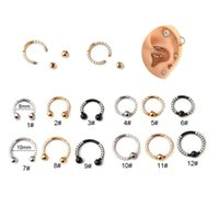 Stud 1Piece Stainless Steel Piercing C-ring Earrings For Women 2021 Trend Jewelry Ear Cuffs Body Safety Pin Nose Ring