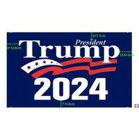 Niedrigster Preis Trump 2024 Flagge 10 Arten Donald Flaggen Halten Sie Amerika Heukein wieder Polyester Dekor Banner HWE8646