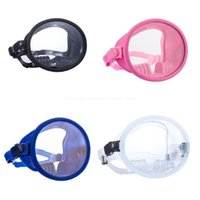 Diving Masks Classic Oval Dive Mask-Silicone Comfort Fit - Fog Free Tempered Glass Lens-Snorkeling & Spearfishing-Retro Single Lens Dropship