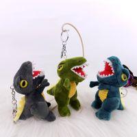 ديناصور دمية صغيرة أفخم لعبة الكرتون tyrannosaurus قلادة صغيرة سلسلة المفاتيح كيس الملابس الحبل هدية النشاط
