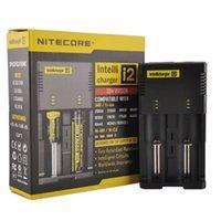 Hight Quality Nitecore I2 Универсальное зарядное устройство для 16340/18650/14500/26650 Батарея US UU Великобритания 2 в 1 Intellicharger DHL FAST