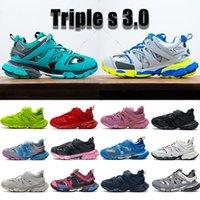 Top triple s 3.0 scarpe da corsa blu giallo grigio giada formatore lime rosso nero rosa reale bianco blu navy da donna scarpe da ginnastica da donna