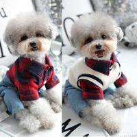 Купленная рубашка с джинсовыми брюками жилет в целом для собак осень зима домашнее животное мода одежда набор маленький средний животных чихуахуа йоркья одежда