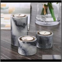 Holders Décor Home & Gardentable Round Marble Personalized Candle Holder Romantic Christmas Centerpiece Candlesticks Decoration Maison Ii50Zt