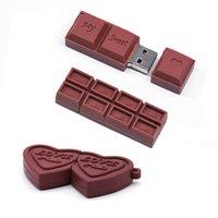 Chocolate Usb Flash Drives 64gb 32gb 16gb 8gb Love Pendrive Heart-shaped Usb2.0 Stick Real Capacity Pen Drive