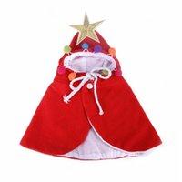 Komik Pet Giysileri Sıcak Köpek Kedi Noel Köpek Noel Baba Cape Sevimli Köpekler Pelerin Kediler Kostüm Ev Dekor Kostümleri