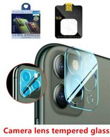 with box package 3D 9H Full Coverage Screen Protectors Clear Transparent Camera Lens Tempered GlassWith Flash Circle Protector for iphone X