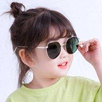 النظارات الشمسية الاطفال المعادن للفتيات خمر غير النظامية uv400 الأطفال الطفل oculos gafas de sol