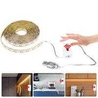 Strips Super Bright USB LED Strip Hand Move DC 5V Flexible Light Lamp Sweep Sensor For Home TV Door Wall Cabinet Decor Lighting
