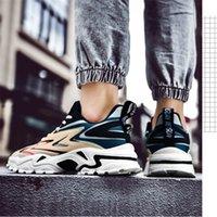 2021 Chaussures de course Tennis à semelles épaisses Hommes Blanc Black Black Summer Coréen Chaussure Casual Chaussure de grande taille Respirant Sneakers Run-chaussure # A00020