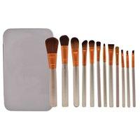 2021 N3 brosse professionnelle 12 pcs maquillage cosmétique pinceau facial kit de boîte en métal brosse sets des brosses en poudre visage