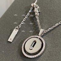 2022 New Pure 925 Sterling Silver Jewelry For Women Beach Necklace Slide Stone Pendants Move Diamond Design Summer Luxury Brand
