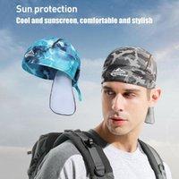 Cycling Caps & Masks Quick Dry Cooling Cap Windproof Theram Ski Folding Portable Rainproof Breathable Running Hat Men Women Headwaer