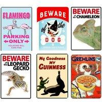 Cartoon Wilde Tiere Metall Poster Farmen Leben Nuss Haus Plaque Vintage Zinn Zeichen Teller Wanddekor Für Bauernhof-Shop Eisen Malerei