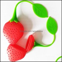 Coffee Tools Drinkware Kitchen, Dining Bar Home & Gardenfruit Design Lovely Stberry Shape Infuser Food Grade Sile Tea Strainer For Loosing L