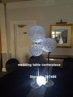 Party Dekoration Elegante Straußfederhochzeitskrista-Perlen-Tabellen-Mittelstücke