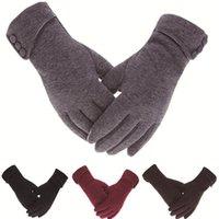 Fingerless Gloves Women Men Touch Screen Winter Autumn Warm Wrist Mittens Driving Ski Windproof Glove Luvas Guantes Handschoenen