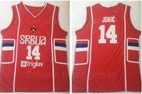 Homens Moive Basquete Sérvia Srbija Jersey 14 Nikola Equipe Cor Preto Costura Colégio Respirável Algodão De Algodão Universidade All Stitched Boa Qualidade
