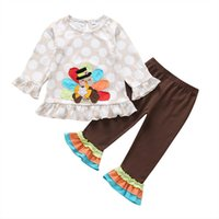 Kids Clothing Sets Girls Outfits Baby Clothes Children Wear Spring Autumn Cotton Cartoon Long-Sleeved T-Shirt Trousers 2 Pieces B6734
