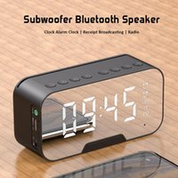 G10 Bluetooth5.0 Speaker Wireless Column Subwoofer Music Center Portable 3D Stereo FM TF AUX With Mirror Alarm Clock 5 Color