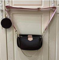 Women's Shoulder Bags Messenger Handbags Three In One Women Composite Bag Classic Flower Cross Shaped Handbag Mahjongbag With Gift Box