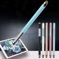 Ballpoint Pens 2 In 1 Multifunction Fine Point Touch Screen Metal Capacitive Stylus Pen For Smart Phone CellPhone Tablet PC Y4QD