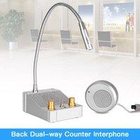 Intercomador de vidrio de vidrio de doble vía Intercomer de intercomunicación interfono para oficina Back Store Sistema de altavoz Walkie Talkie