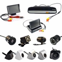 Car Video 4.3 Inch Auto Parking System HD Rearview Mirror Monitor And 170 Degrees Waterproof Rear View Camera