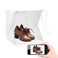 Mini LED PO Caixa de vídeo 20 30 40 cm dobrável iluminação portátil estúdio tendão de tenda emart difuso softbox acessórios
