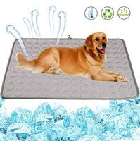 Cão de refrigeração do verão esteira de gelo lavável pet cobertor cobertor interior tapetes para cães hha6580