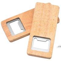 Ouvre-bouteille en bois à la mode Clé de bouteille de jar simple Clé créative Multifonctionnement en bois de matifonction en forme carrée boîte d'ouverture outil de cuisine DWD7500
