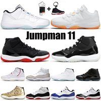 tênis nike air jordan retro com meias jumpman 11 branco off 25º aniversário tênis de basquete 11s homens mulheres alto baixo lenda azul sapatilhas cítricas tênis