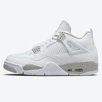 2021 Jumpman IV 4 Beyaz Oreo Kadın Erkek Açık Ayakkabı 4 S Tech Gri-Beyaz Chaussures Eğitmenler Sneakers Spor Ayakkabı